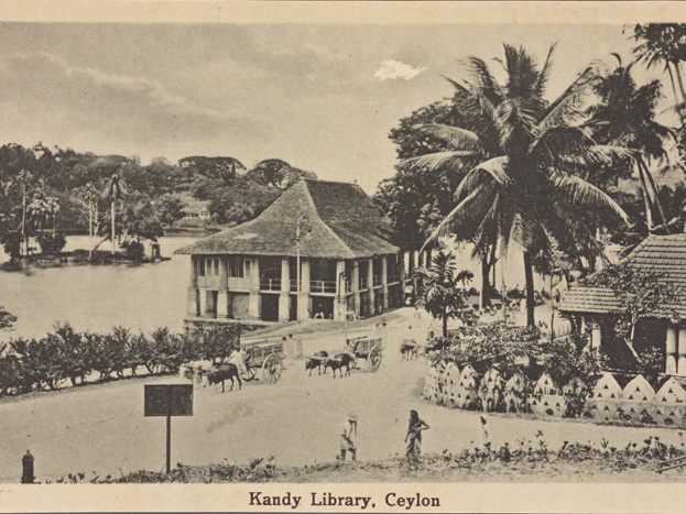 Sri-Lanka-Kandy-Library,-Ceylon